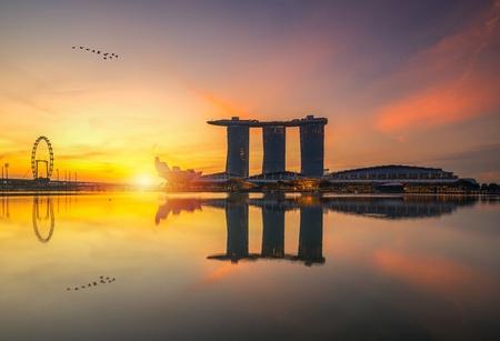 Sunrise at Marina Bay Sands