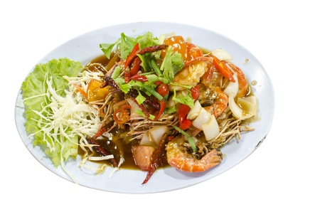 A photo of shrimp that fried with tamarind sauce