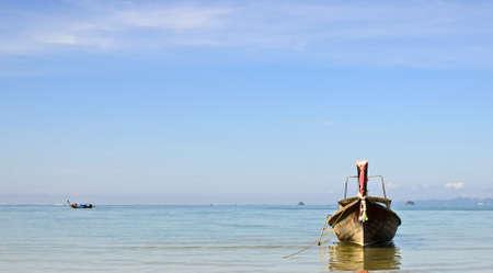 aonang: This is a landscape photo of a long tail boat at Aonang Krabi Thailand  Stock Photo
