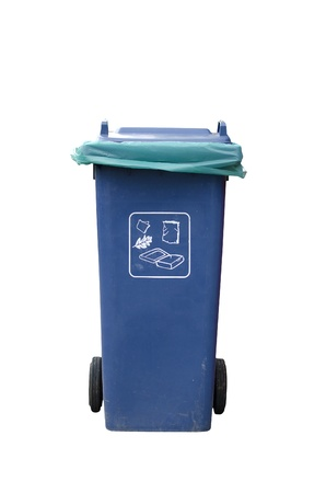 A photo of a Blue Recycle Bin Stock Photo - 16654135