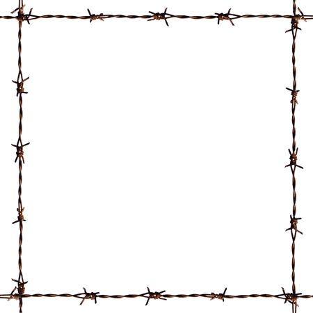 fil de fer: Une photo de cadre de barbe Banque d'images