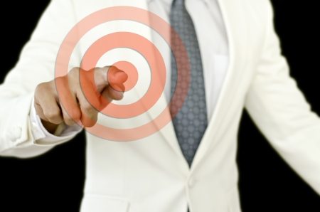 businessman point the aim Stock Photo