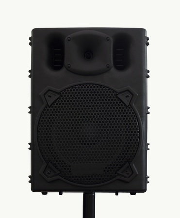 acoustic systems: Loudspeaker , Black loudspeaker isolated.