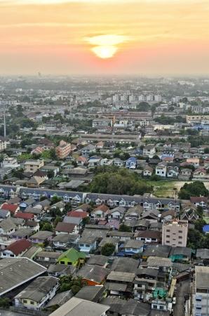 nonthaburi: sunset at Nonthaburi province of thailand Stock Photo