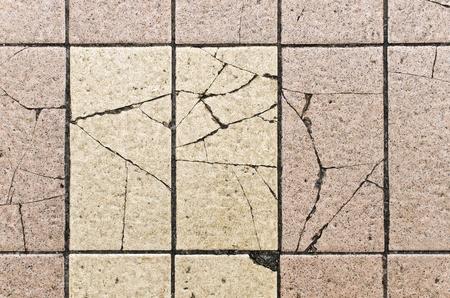 Tile floor broken