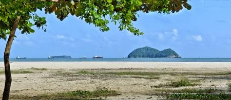 Samila beach in Songkhla, Thailand and noo and maew island