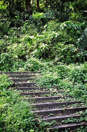 Rock stairway going up to Tang Kuan Hill songkhla thailand Stock Photo