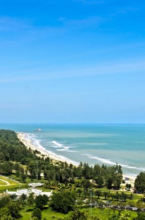 Samila beach in Songkhla, Thailand