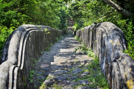 Rock stairway going down from Tang Kuan Hill songkhla thailand Stock Photo - 17696917