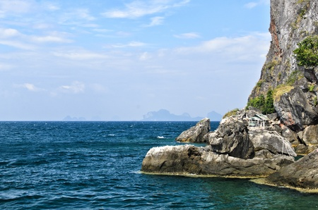 cliff at koh ma island,trang province,thailand Stock Photo - 17656127