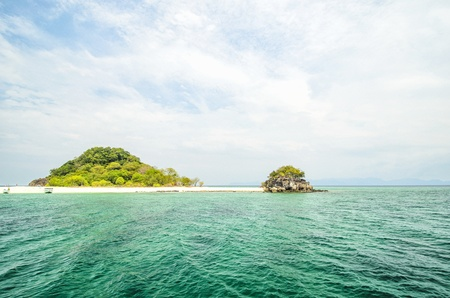 beautiful beach at Koh Kai Nai island in Andaman sea , Phuket ,South of Thailand photo