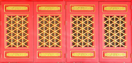 red windows chinease style photo