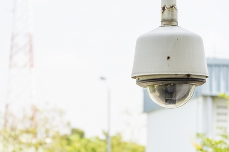 dome type outdoor cctv camera