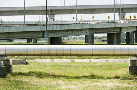 pipe line: pipe line parallel the road