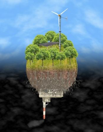 carbondioxide: energy choice globe Stock Photo