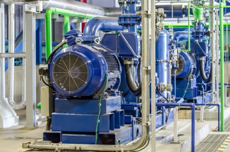 power: condensate pump of combined cycle power plant Stock Photo