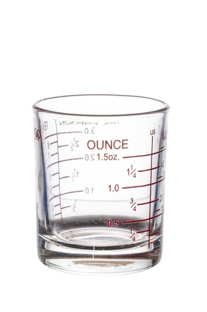 measuring glass isolated on white background