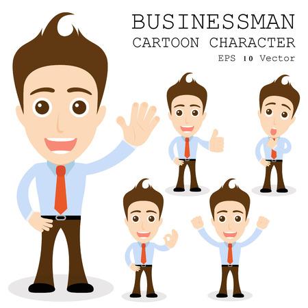 character set: Businessman cartoon character