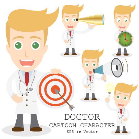 cheerful cartoon: Personaje de dibujos animados m�dico
