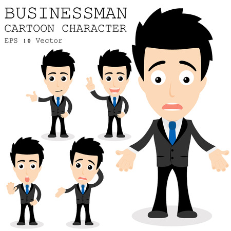 worried executive: Businessman cartoon character
