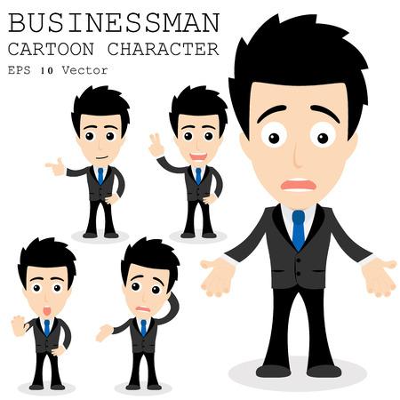 sad businessman: Businessman cartoon character