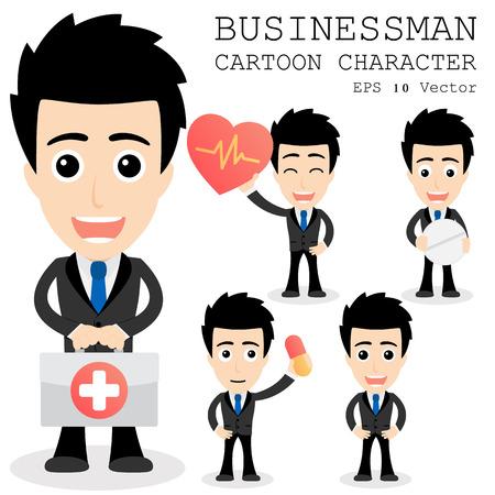 obrero caricatura: Personaje de dibujos animados del hombre de negocios Vectores