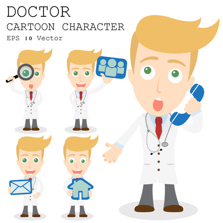 Doctor cartoon character  Иллюстрация