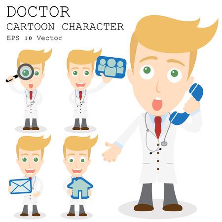 Doctor cartoon character  Illustration