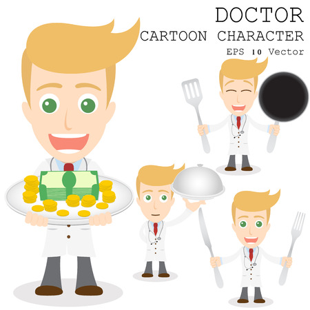 doctor cartoon: Doctor cartoon character    Illustration