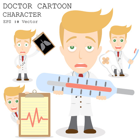 Doctor cartoon character  Vector