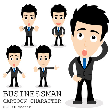 Businessman cartoon character