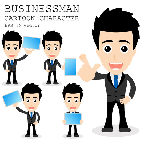 Geschäftsmann Cartoon-Figur Standard-Bild - 25858706