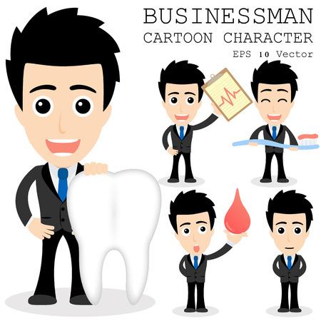 Geschäftsmann Cartoon-Figur Standard-Bild - 25858713