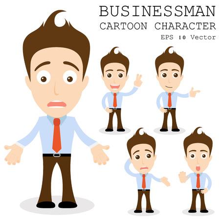 Geschäftsmann Cartoon-Figur Standard-Bild - 25858719