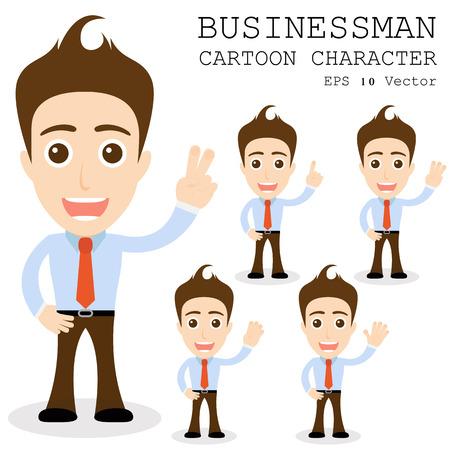 Geschäftsmann Cartoon-Figur Standard-Bild - 25858718