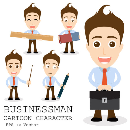 Businessman cartoon character EPS 10 vector Vector