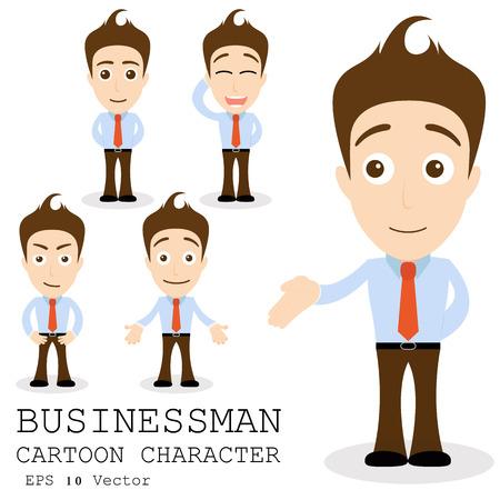 Businessman cartoon character EPS 10 vector