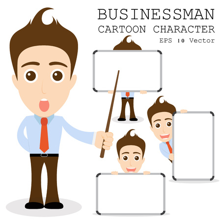 cartoon board: Businessman cartoon character