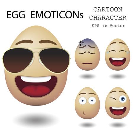 Egg Emoticon Zeichentrickfigur Standard-Bild - 27373514