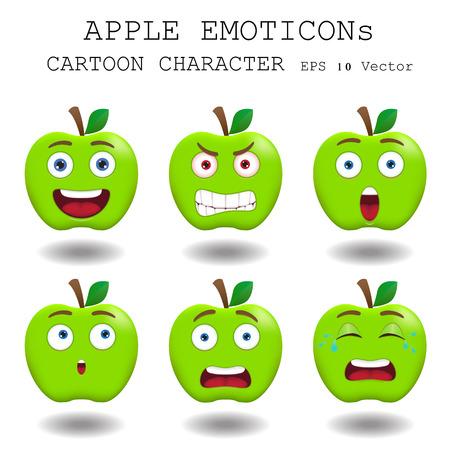 cry icon: Apple emoticon cartoon character
