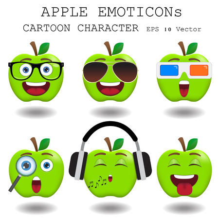 smily: Apple emoticon cartoon character
