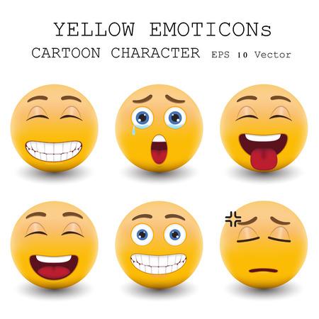 clin d oeil: Personnage de dessin anim� �motic�ne jaune