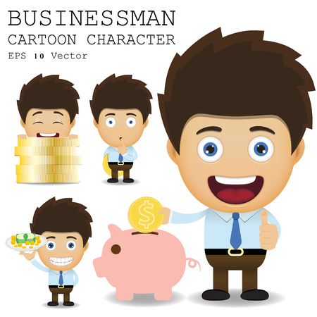 cartoon money: Businessman cartoon character