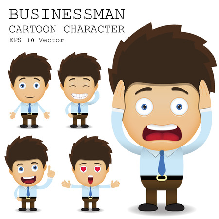 Businessman cartoon character Vectores