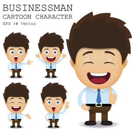 ビジネスマンの漫画のキャラクター  イラスト・ベクター素材