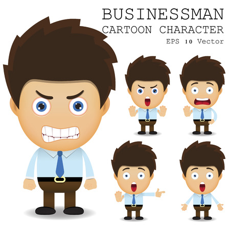 annoyed: Businessman cartoon character