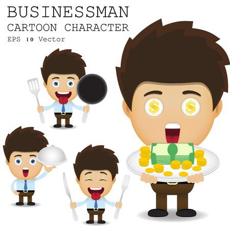 Businessman cartoon character  Vector