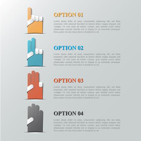 Infographic design template vector   Illustration