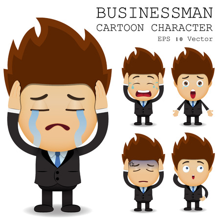 administrator: Businessman cartoon character Illustration
