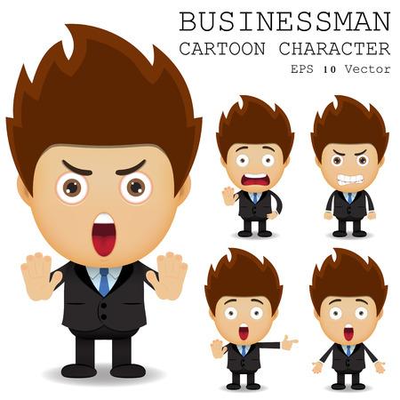 office worker cartoon: Businessman cartoon character EPS 10 vector